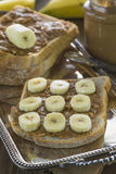 Peanut butter and banana sandwich Royalty Free Stock Image