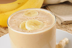 Peanut butter and banana smoothie Royalty Free Stock Image