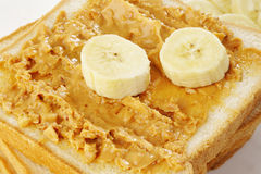 Peanut butter and banana Stock Images
