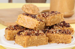 Peanut Butter Bars stock image