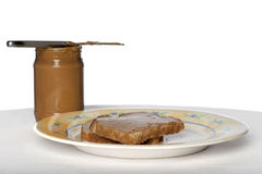 Peanut butter bread Stock Images