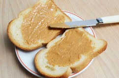 peanut butter and bread Stock Image