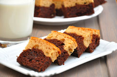 Peanut Butter Brownies Royalty Free Stock Photography