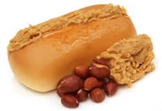 Peanut butter with bun Royalty Free Stock Photos