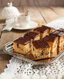Peanut Butter Cake with Chocolate Chips Stock Photos