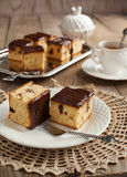Peanut Butter Cake with Chocolate Chips Stock Images