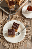 Peanut Butter Cake with Chocolate Chips Royalty Free Stock Photo