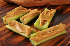 Peanut butter and celery Stock Photo