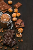 Peanut butter and chocolate Stock Photo