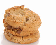 Peanut butter chocolate chip cookies Stock Image