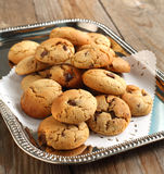 Peanut butter and chocolate chip cookies Stock Image