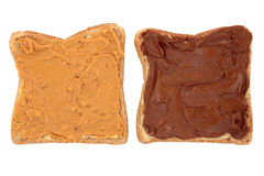 Peanut Butter and Chocolate Snack Stock Photo