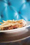 Peanut Butter Club Sandwich Stock Photo