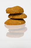 Peanut Butter Cookie. Closeup Peanut Butter Cookie with shadow royalty free stock photography