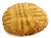 Peanut butter cookie. Isolated on a white background royalty free stock photo