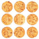 Peanut Butter Cookie isolated on a white background. Top view royalty free stock photo