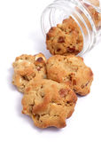 Peanut butter cookies. Chunks of white chocolate and pecans baked into melt in your mouth peanut butter cookies stock images