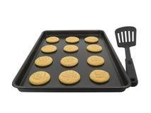 Peanut butter cookies stock photos