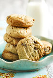 Peanut butter cookies with chocolate chips Stock Photography