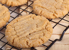 Peanut Butter Cookies Closeup Stock Photo