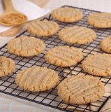 Peanut Butter Cookies Cooling Stock Photography