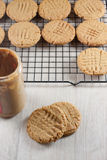 Peanut Butter Cookies. Cooling on a rack Stock Image