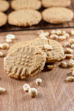 Peanut Butter Cookies. Cooling on a rack Stock Photos