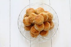 Peanut butter cookies stacked Royalty Free Stock Image