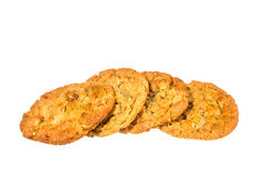 Peanut butter cookies on whit background Stock Images