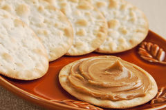 Peanut butter cracker Stock Image