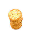 Peanut butter cracker stack Royalty Free Stock Image