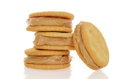 Peanut butter and crackers Stock Photo