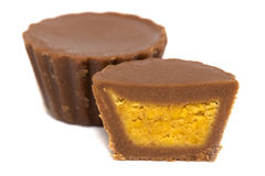 Peanut Butter Cup Candies Royalty Free Stock Photo