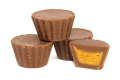 Peanut Butter Cup Stack Royalty Free Stock Photo