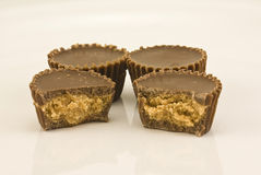 Peanut Butter Cups. Captured close-up Royalty Free Stock Images