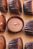 Peanut butter cups Royalty Free Stock Photo