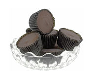Peanut Butter Cups Dish Stock Image