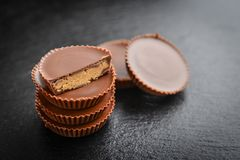 Peanut butter cups Royalty Free Stock Photography