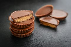 Peanut butter cups Royalty Free Stock Photos