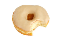 Peanut Butter Donut Isolated on a White Background Royalty Free Stock Photo