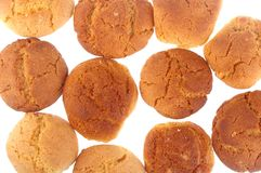 Peanut butter and ginger cookies Royalty Free Stock Photos