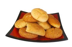 Peanut butter and ginger cookies Royalty Free Stock Photo
