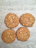 Peanut butter gluten free cookie. Whit oats royalty free stock photos