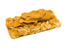 Peanut Butter on Granola Bar Royalty Free Stock Image
