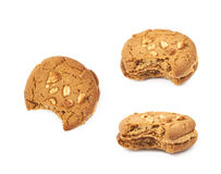 Peanut butter homemade cookie isolated Stock Photography