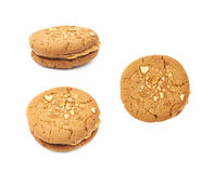 Peanut butter homemade cookie isolated Royalty Free Stock Images
