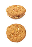 Peanut butter homemade cookie isolated Royalty Free Stock Photo