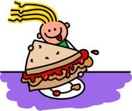 Peanut Butter & Jam Sandwich Stock Photography