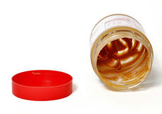 Peanut butter jar. And lid royalty free stock photos