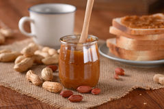 Peanut butter in the jar Stock Photography
